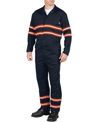 Dickies Workwear VV601 Men's Enhanced Visibility Long-Sleeve Coverall DARK NAVY _M