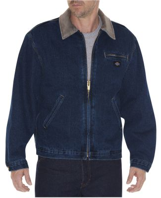 Dickies Workwear WD780 Men's Stone Washed Denim Jacket STNWSH DK INDIGO