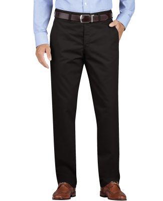 Dickies Workwear WP902 Men's KHAKI Regular Fit Tapered Leg Flat Front Pant RINSED BLACK _30
