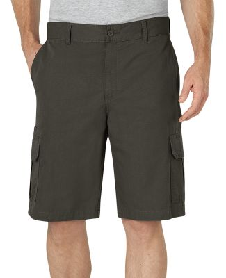 Dickies Workwear WR351 Men's 11 Relaxed Fit Lightweight Ripstop Cargo Short RNSD MOSS _GRN 30