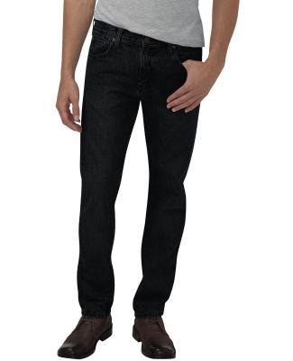 Dickies Workwear XD710 Men's X-Series Slim Fit Straight-Leg 5-Pocket Denim Jean Pant HRTG BLK DEN _28