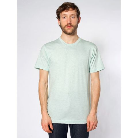 2001 American Apparel Fine USA Made Jersey Tee Ash Seafoam (Discontinued)