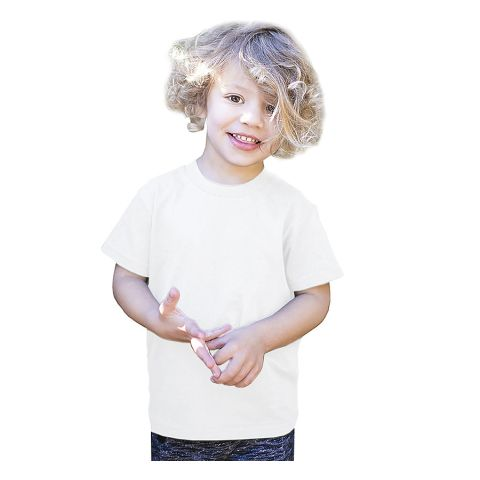 Toddler Organic Cotton Crewneck T-Shirt White