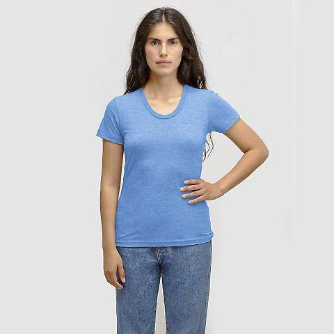 Los Angeles Apparel TR3001 Women's Tri-Blend Track Tee Athletic Blue