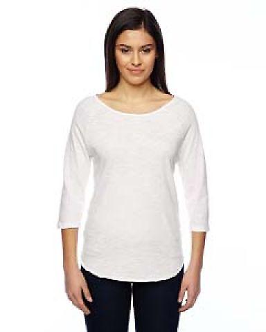 02824J1 Alternative Ladies' Washed Minor League Baseball T-Shirt VINTAGE WHITE