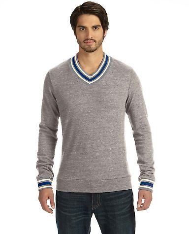 09594EC alternative Men's V-neck Sweatshirt Eco Grey