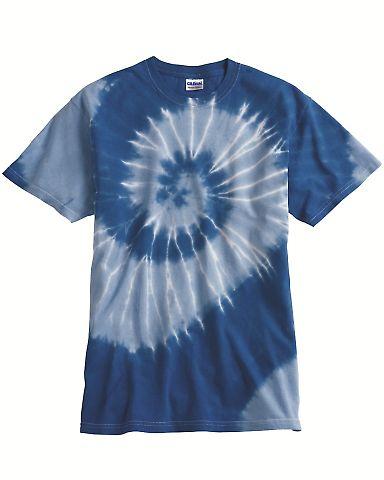 Dyenomite 20021 Tone-on-Tone Spiral T-Shirt
