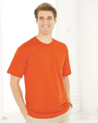 Bayside 1725 USA-Made 50/50 Short Sleeve T-Shirt with a Pocket