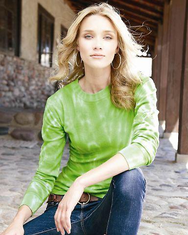 J America 8239 Ladies' Hannah Long Sleeve Tie-Dyed Thermal T-Shirt