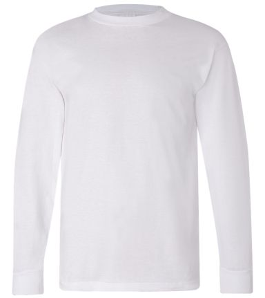 6100 Bayside Adult Long-Sleeve Cotton Tee White