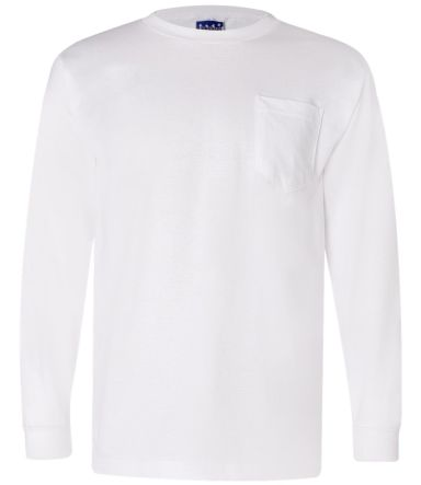 301 3055 Union-Made Long Sleeve T-Shirt with a Pocket White