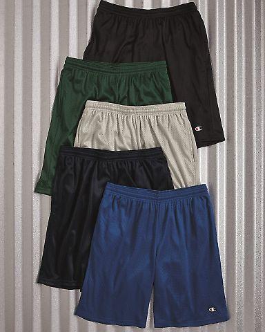 81622 Champion Logo Long Mesh Shorts with Pockets