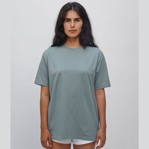 1801 Los Angeles Apparel Unisex Garment Dyed Cotton Tee Atlantic Green