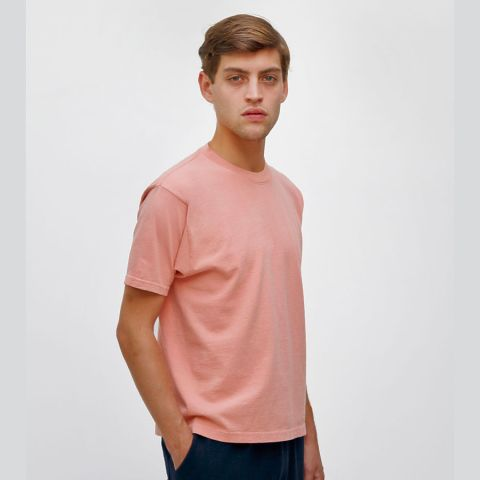 1801 Los Angeles Apparel Unisex Garment Dyed Cotton Tee Coral