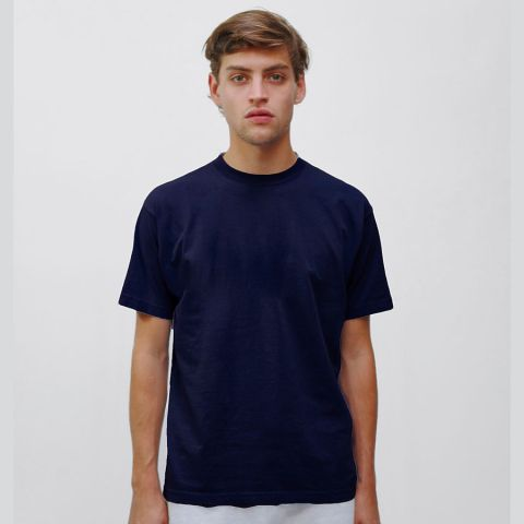 1801 Los Angeles Apparel Unisex Garment Dyed Cotton Tee Navy