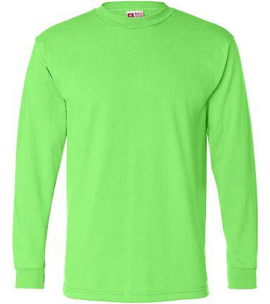 B1715 Bayside Adult Long-Sleeve Blended Tee Lime Green