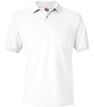 0504 Stedman by Hanes® Blended Jersey with Pocket White