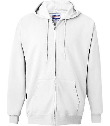 F280 Hanes® PrintPro®XP™ Ultimate Cotton® Full Zip Hooded Sweatshirt White