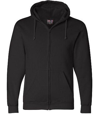 900 Bayside Adult Hooded Full-Zip Blended Fleece Black