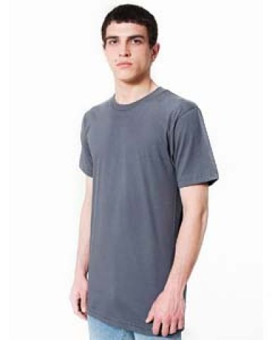 American Apparel 2001TL Fine Jersey Short Sleeve Tall Tee Asphalt (Discontinued)