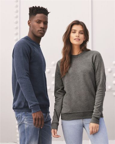 BELLA+CANVAS 3901 Unisex Tri-blend Sponge Fleece Sweatshirt