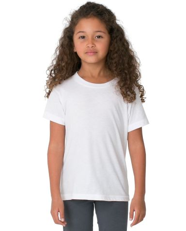 2105 American Apparel Kids Fine Jersey Short Sleeve T White(Discontinued)