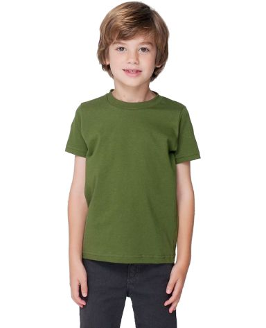 2105 American Apparel Kids Fine Jersey Short Sleeve T Olive(Discontinued)