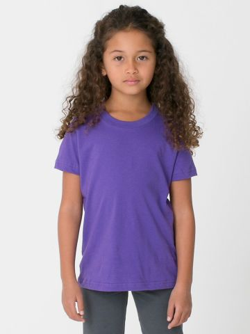 American Apparel 2105W Toddler Fine Jersey Short-Sleeve T-Shirt PURPLE