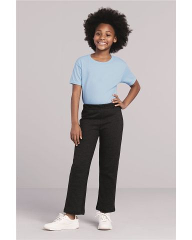 18400B Gildan Youth Heavy BlendOpen Bottom Sweatpants