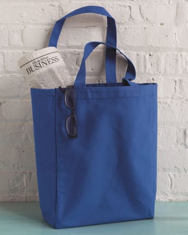 8861 UltraClub® Cotton Canvas Tote with Gusset