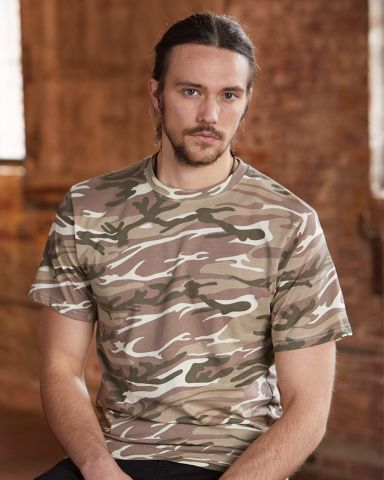 939 Anvil Ring Spun Camouflage Tee