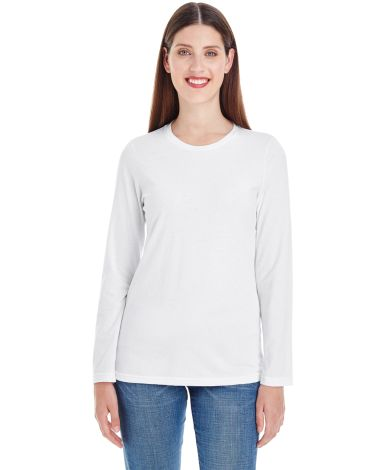 American Apparel 23337W Ladies' Fine Jersey Classic Long-Sleeve T-Shirt White