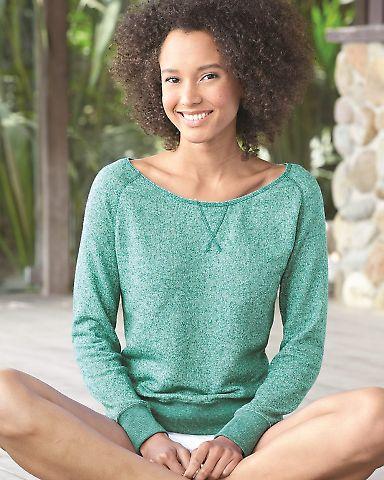 PRM2400 Independent Trading Co. - Juniors' Wide-neck Sweaterfleece Crew