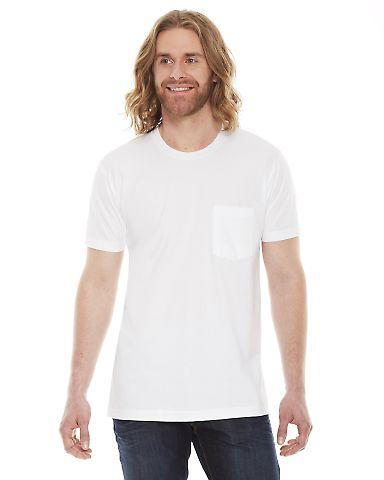 2406W Unisex Fine Jersey Pocket Short-Sleeve T-Shirt White