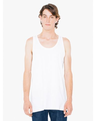 American Apparel 2408TLW Unisex Tall Fine Jersey Tank White