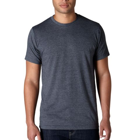 0241 Tultex Unisex Ultra Blend Tee  Heather Navy