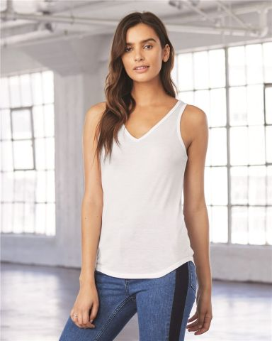 fd08b63283d8ba BELLA 8805 Womens Flowy Tank Top
