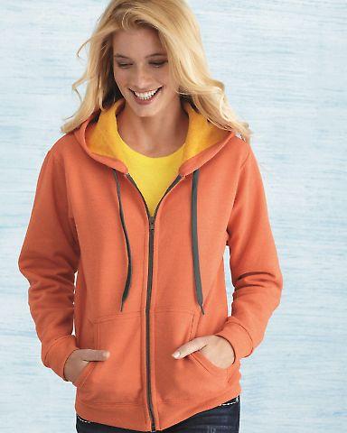 18700FL Gildan Missy Fit Heavy BlendVintage Full-Zip Hooded Sweatshirt