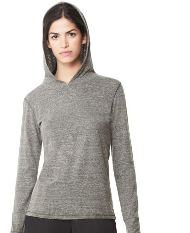 W3101 All Sport Ladies Triblend Thumbhole Hooded T-Shirt