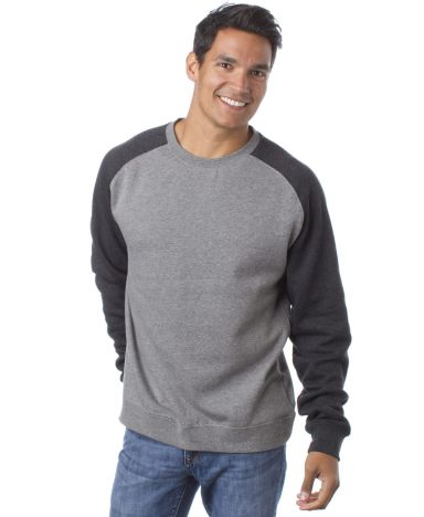 IND30RC Independent Trading Co. Fitted Raglan Crewneck Sweatshirt