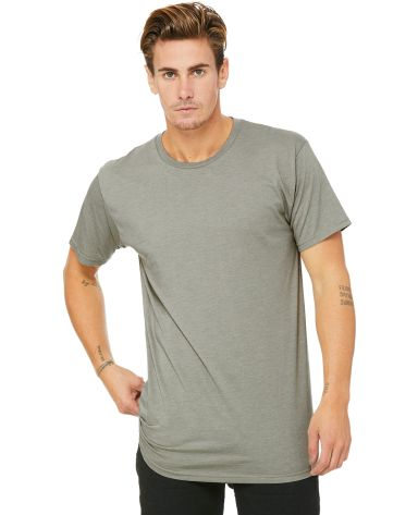 BELLA+CANVAS 3006 Long T-shirt Heather Stone