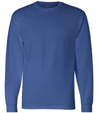CC8C Champion Logo Long-Sleeve Tagless Tee Royal Blue