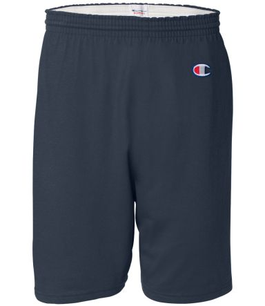 8187 Champion 6.3 oz. Ringspun Cotton Gym Shorts Navy