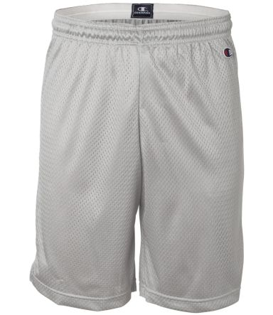 8731 Champion Logo Adult Mesh Shorts Athletic Grey
