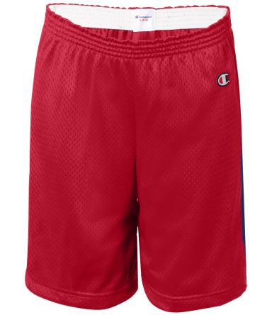 Champion 8173 Youth Mesh Shorts Scarlet