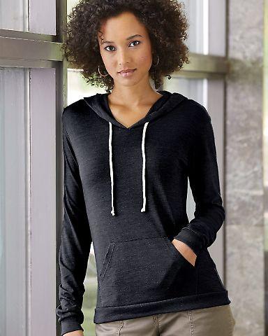 Alternative Apparel 01928E1 Ladies Hooded T-shirt