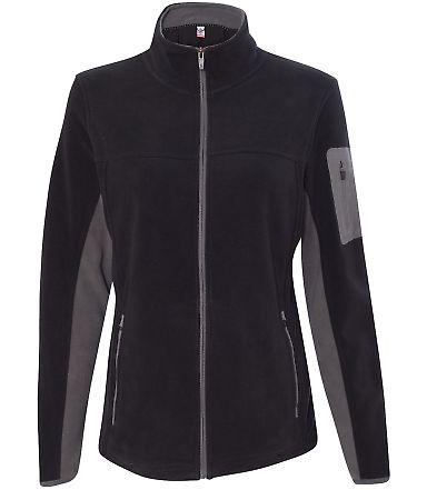 Colorado Clothing 5297 Women's Pike's Peak Microfleece Jacket Black/ City Grey