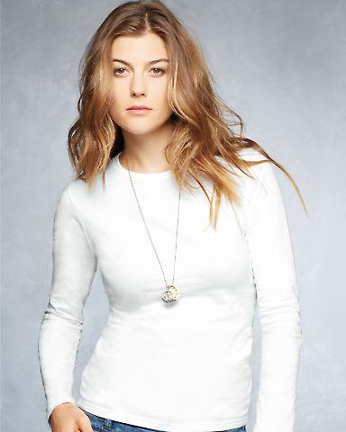 374L Anvil Ladies' Junior Fit Ringspun Long-Sleeve T-Shirt