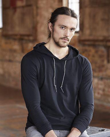 987 Anvil Ringspun Long-Sleeve Hooded T-Shirt