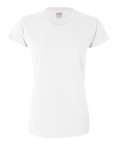 3325 Bayside Ladies' Short-Sleeve Tee White